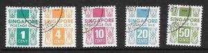 SINGAPORE SGD16/20 1978  POSTAGE DUES FINE USED