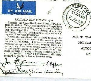 PAKISTAN Kawal Pindi EXPEDITION Signed Postcard {samwells-covers} 1960 CW37
