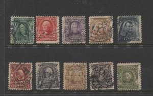 STAMP STATION PERTH US. #300-309 Used