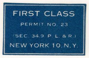 First Class Permit Cut Square