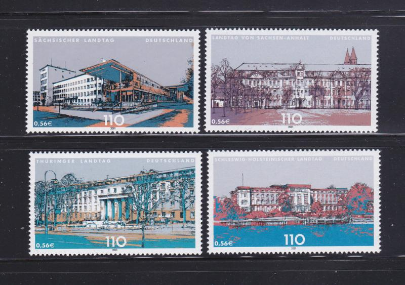 Germany 2113-2116 Set MNH Parliament Buildings