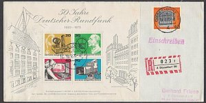GERMANY 1973 Registered cover - nice franking...............................B377