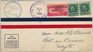 HABANA - POSTAL HISTORY - AVIATION: Edifil E9 on COVER - SANTA MARIA / ROWE 1928