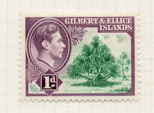 Gilbert & Ellice Islands 1939-55 Early Issue Fine Mint Hinged 1d. 076062