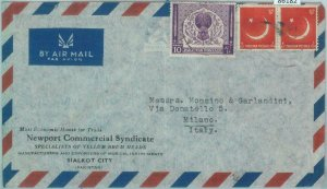 86182 - PAKISTAN - POSTAL HISTORY -  Airmail  COVER to ITALY  1950's