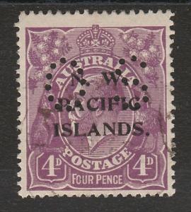 NWPI NEW GUINEA 1919 KGV OS 4D VIOLET USED