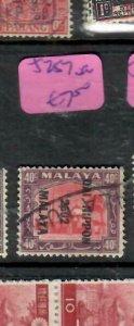 MALAYA JAPANESE OCCUPATION SELANGOR (P1607B)  40C DN  SG J251  VFU