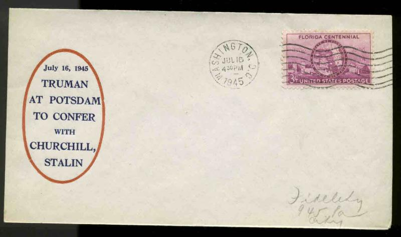 WWII PATRIOTIC -TRUMAN AT POTSDAM CONFERENCE 7/16/45 SHERMAN #4136