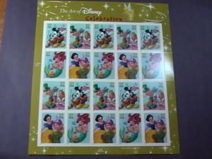 U.S.# 3912-3915(3915a)-MINT/NH--PANE OF 20--THE ART OF DISNEY--CELEBRATION--2005