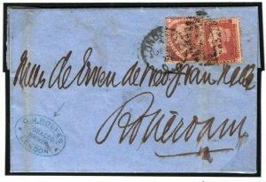 GB SG.51 Cover *TOBACCO BROKER* Cachet 1½d Plate 3 Cat £275 London 1875 15.10