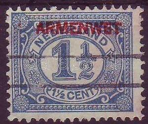 Netherlands stamp Dienstmarke (thin paper) Used 1913 Mi 3 WS220159
