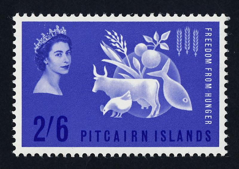 Pitcairn Islands 35 MNH Freedom From HUnger, Animals, Food, Fish