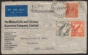 AUSTRALIA NEW GUINEA 1938 double flight cover................16766