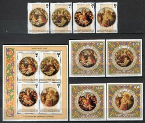 Cook Islands 1985-86 Christmas Sets + Mini-sheets Complete MNH CV$85