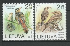 Lithuania 2013 Birds 2 MNH stamps