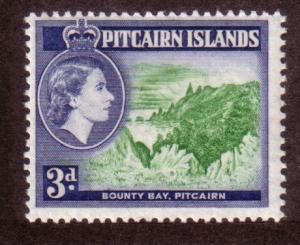 Pitcairn Islands #24 3p Queen Elizabeth  (MH)CV$1.00