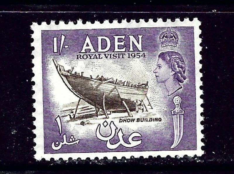 Aden 62 MNH 1954 Dhow Building