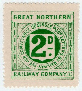 (I.B) Great Northern Railway (Ireland) : Letter Stamp 2d