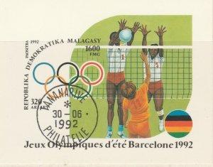Malagasy Republic 1992 Volleyball Sheet Mi. Block 191 Used 11895