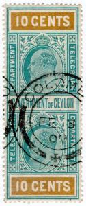 (I.B) Ceylon Telegraphs : 10c (Colombo)