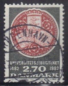 DENMARK SCOTT# 731 USED 2.70k  1982 LIBRARY    SEE SCAN