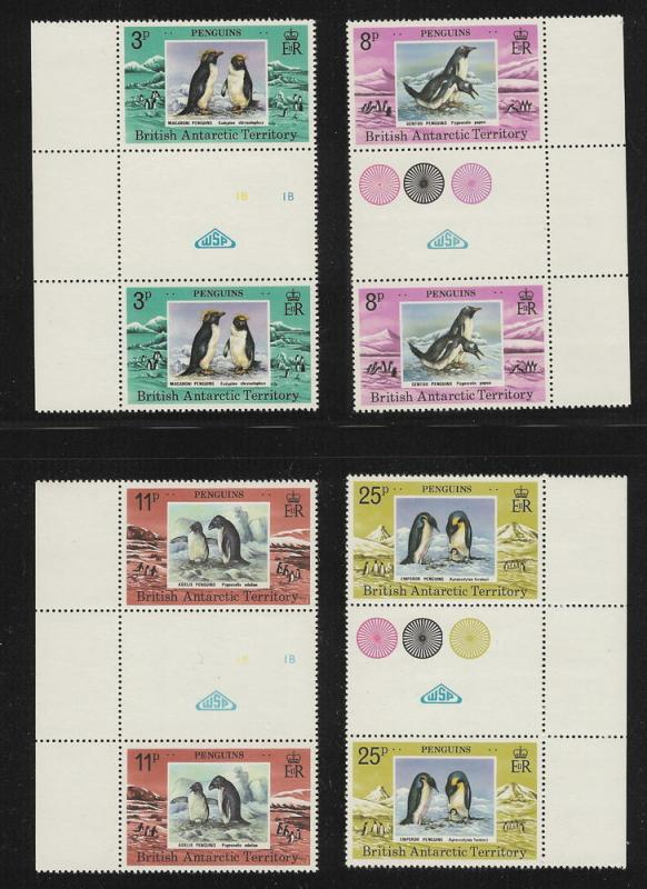 British Antarctic Territory  Gutter Pairs  mnh S.C. 72 - 75