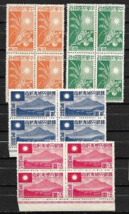 Doyle's_Stamps: MNH  1944 Chinese WWII Nangking Government Blocks