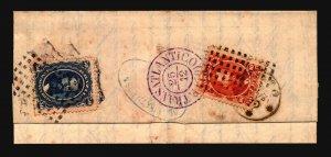 Brazil 1870 Cover to Protugal / SC# 53 & 56 / Better Marks - Z19398
