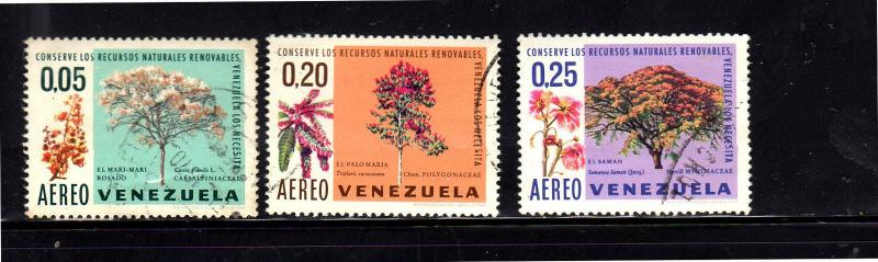 VENEZUELA #C1009-C1011  1969  TREES    F-VF USED