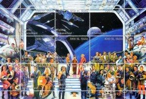 Somaliland 1999 Space-Cinema-Star Wars-MOTORCYCLE Sheetlet  (9) MNH
