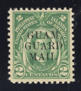 Guam# M5 2 Cents, Green - Guam Guard Mail - Unused - O.G. - Previously Hinged