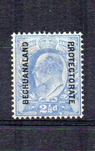 Bechuanaland Protectorate 1904-13 GB opt 2 1/2d stop after P variety