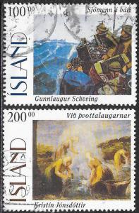 Iceland 816-817 Used - Art