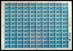 1969 5d Post Office Technology Full Sheet (CYL 2A3B2C2D) UNMOUNTED MINT dot