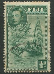 Fiji - Scott 117 - KGVI - Definitive - 1938 - Used - Single 1/2d Stamp