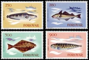 Faroe Islands MNH 97-100 Fish 1983 SCV 6.00