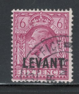 Great Britain Offices Turkish Empire 1921 Overprint 6p Scott # 52 Used