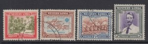 Samoa, Scott 181-184 (SG 195-198), used