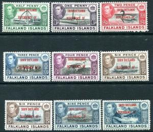 SOUTH SHELTLAND 1944-45 Set to 1/-incl both 6d shades Sg D1-D8/D6a MOUNTED MINT