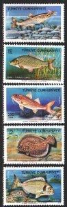 Turkey. 1975. 2369-73. Fish, sea fauna. MNH.