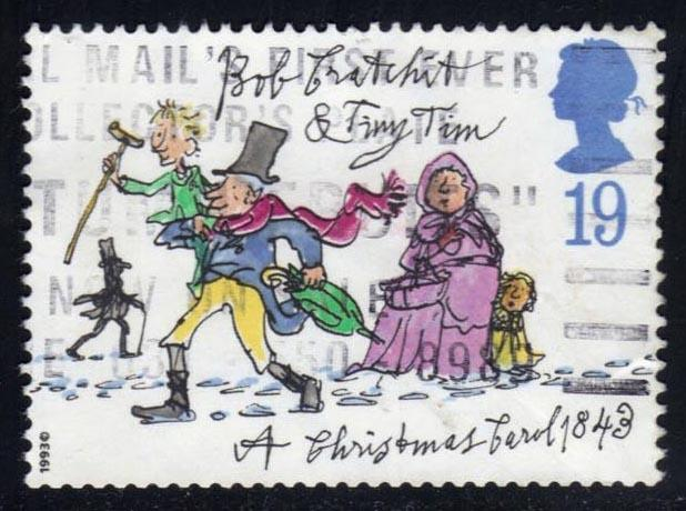 Great Britain #1528 Tiny Tim and Bob Cratchit, used (0.25)