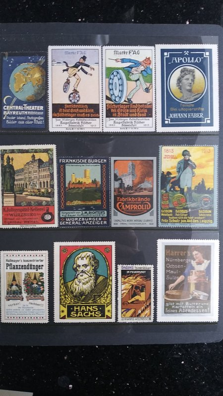 World Exhibition, Convention, Stamp Show, Poster, Label stamp Collection LOT #Q3