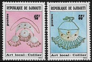 Djibouti #475-6 MNH Set - Necklaces, Jewelry