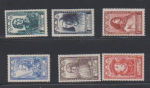 FRANCE #B207-B212(6) STAMPS USED .LOT#341