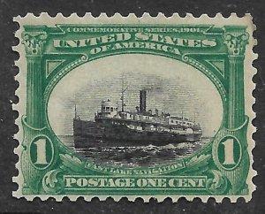 Doyle's_Stamps: MNH 1901  Scott #294** 'Sinking' Ocean Steamer