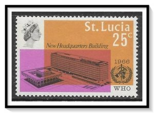 St Lucia #210 WHO Headquarters MH