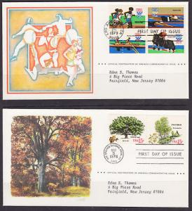 US, 1978-1980 PMA Official FDC Collection, 40 different, fresh, crisp, VF