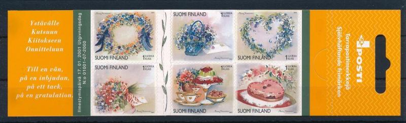 [30817] Finland 2001 Greeting Stamps Valentine's day  MNH Booklet