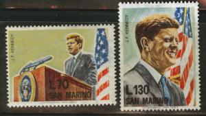 San Marino Scott 607-608 MNH**  1964 JFK set