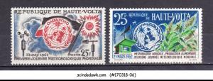 UPPER VOLTA - 1961-62 WORLD DAY OF METEOROLOGY 2V MINT NH